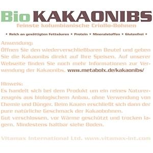 Bio Kakaonibs 100% bio Anwendung