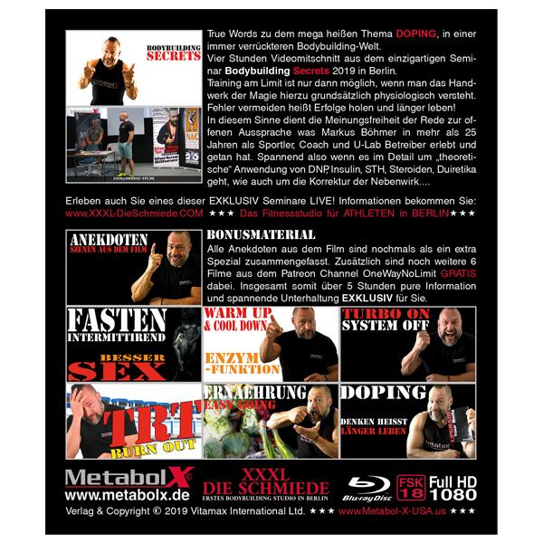 Bodybuilding Secrets Blu-ray - Cover-Rueckseite
