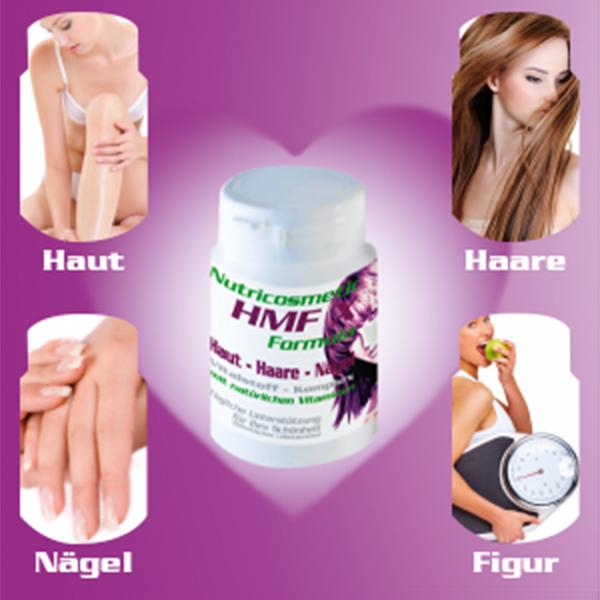 HMF-X-Nutricosmetic Vitalstoffe unterstützen