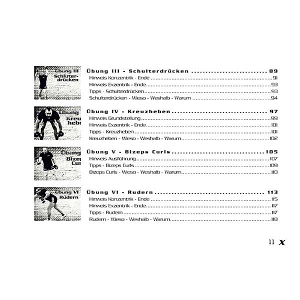 MGF-Training Phase 1 Start Up - Inhaltsverzeichnis 4
